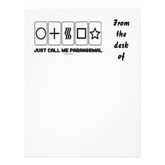 Apenas llámeme paranormal (las tarjetas de Zener) Membrete Personalizado