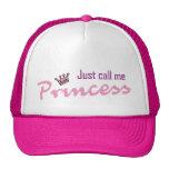 Apenas llámeme princesa gorros