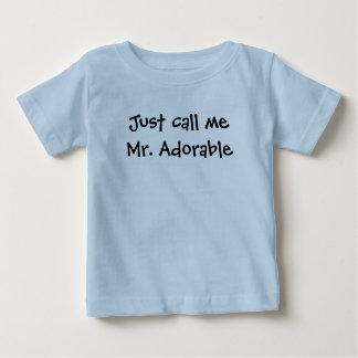 Apenas llámeme Sr. Adorable Playera De Bebé