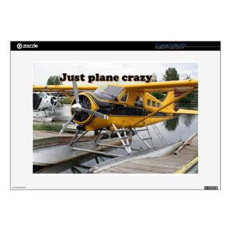 Apenas loco plano: Avión del flotador del castor,  Portátil Calcomanías