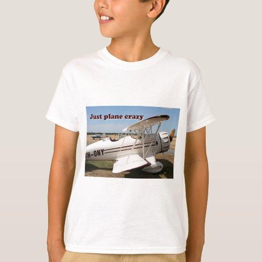 Apenas loco plano: Aviones del biplano de Waco Playera