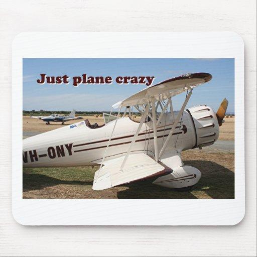 Apenas loco plano: Aviones del biplano de Waco Tapetes De Ratones