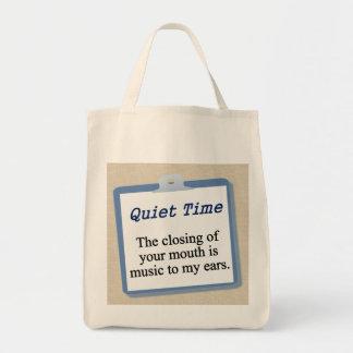 Apenas mantenga su boca cerrada bolsa tela para la compra