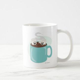 Apenas Marshmellows en chocolate Tazas De Café