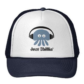 Apenas medusas azules de Chillin con los auricular Gorra