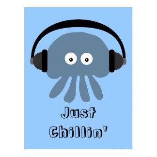 Apenas medusas azules de Chillin con los Tarjetas Postales