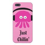 Apenas medusas rosadas de Chillin con las cabezas iPhone 5 Fundas