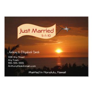 Apenas mensaje casado de la invitación en el cielo