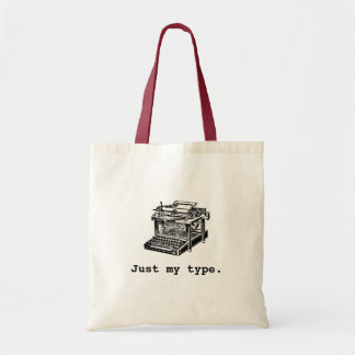 Apenas mi tipo, máquina de escribir bolsa tela barata