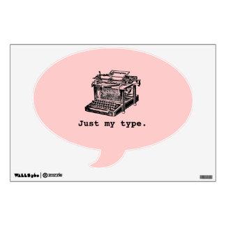 Apenas mi tipo, máquina de escribir vinilo