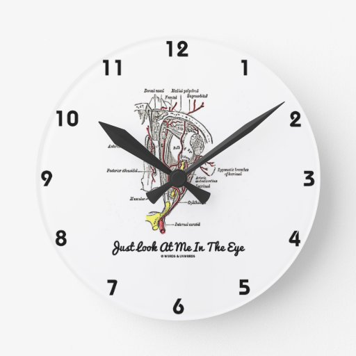 Apenas míreme en el ojo (la anatomía) reloj redondo mediano