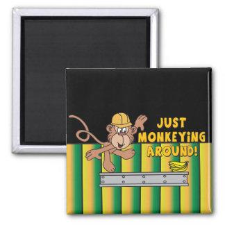 Apenas Monkeying alrededor el mono Imán Para Frigorifico
