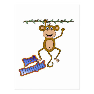 apenas mono del hangin postales