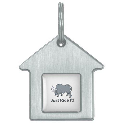 Apenas móntelo Bull gris Placas Mascota