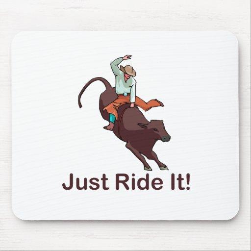 Apenas móntelo vaquero y Bull Alfombrillas De Raton