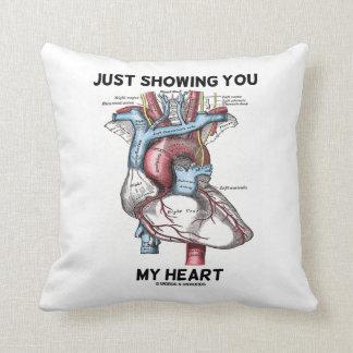 Apenas mostrándole mi corazón (corazón anatómico) cojin