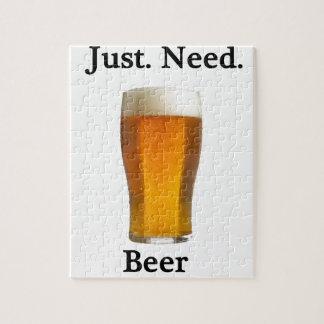 apenas. necesidad. cerveza puzzle con fotos
