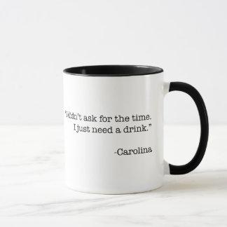 """""""Apenas necesito taza de una bebida"""""""