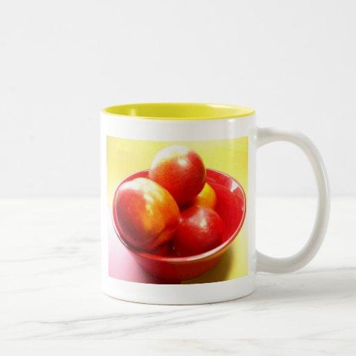 Apenas nectarinas taza de café
