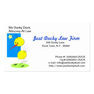 Apenas negocio Ducky Card2 Tarjetas De Visita