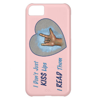 Apenas no beso los labios, YO LOS LEÍ: ASL Funda Para iPhone 5C