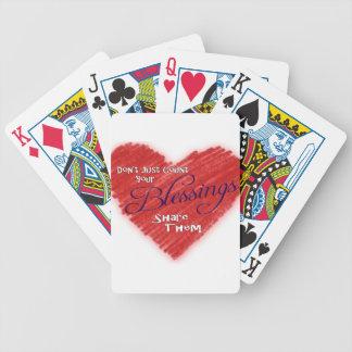 Apenas no cuente sus bendiciones, las comparten baraja cartas de poker