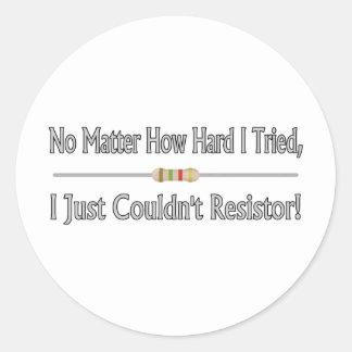 Apenas no podría el resistor pegatina redonda