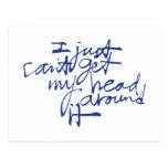 Apenas no puedo conseguir mi cabeza alrededor de e tarjeta postal
