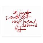 Apenas no puedo conseguir mi cabeza alrededor de e tarjetas postales
