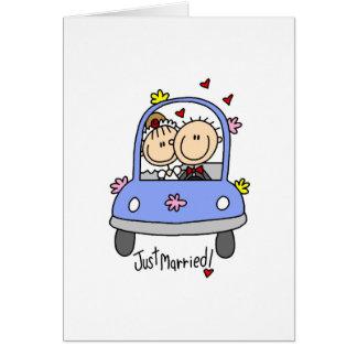 Apenas novia y camisetas y regalos casados del nov tarjeta pequeña