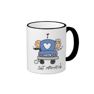 Apenas novia y camisetas y regalos casados del nov tazas de café