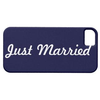 Apenas novio casado de la caja del teléfono funda para iPhone 5 barely there