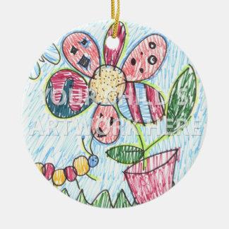 Apenas ornamento $21,95 del arte adorno navideño redondo de cerámica