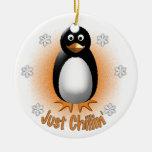 Apenas ornamento de Chillin Adornos De Navidad
