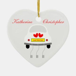 Apenas ornamento personalizado casado de los nombr ornamentos para reyes magos
