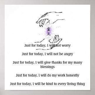 Apenas para el hoy, no el worryJust FO… Póster