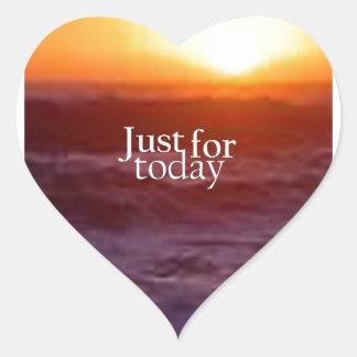 Apenas para hoy pegatina de corazon personalizadas