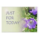 Apenas para las flores de Bell del hoy Felicitacion