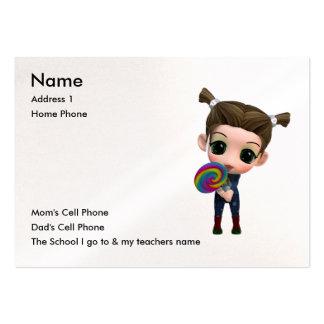 Apenas para los niños plantilla de tarjeta de negocio