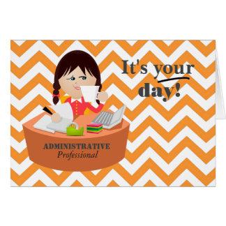 Apenas para usted tarjeta administrativa del día