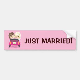 Apenas pares casados pegatina de parachoque