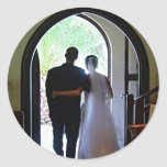 Apenas pares casados etiquetas redondas