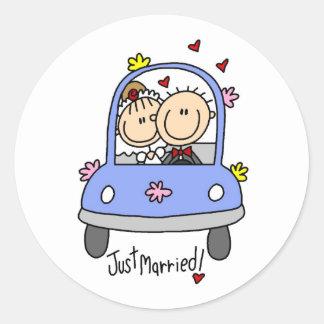 Apenas pegatina casado