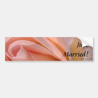 Apenas pegatina para el parachoques casada etiqueta de parachoque