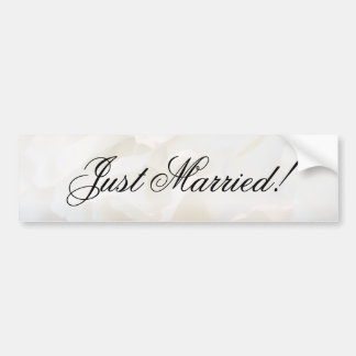 Apenas pegatina para el parachoques casada floral  etiqueta de parachoque