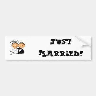 Apenas pegatina para el parachoques casada pegatina para auto
