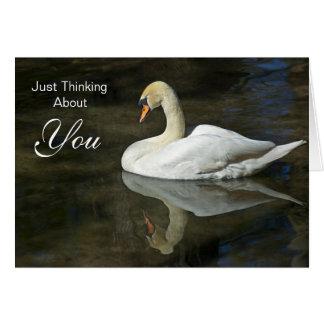 Apenas pensando en usted tarjeta de felicitación