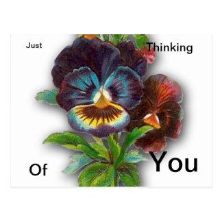 Apenas pensando en usted postal