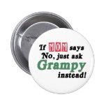 Apenas pida Grampy Pin Redondo De 2 Pulgadas