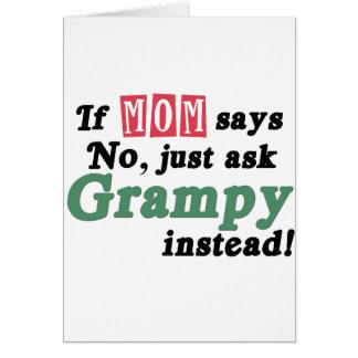 Apenas pida Grampy Tarjeta De Felicitación